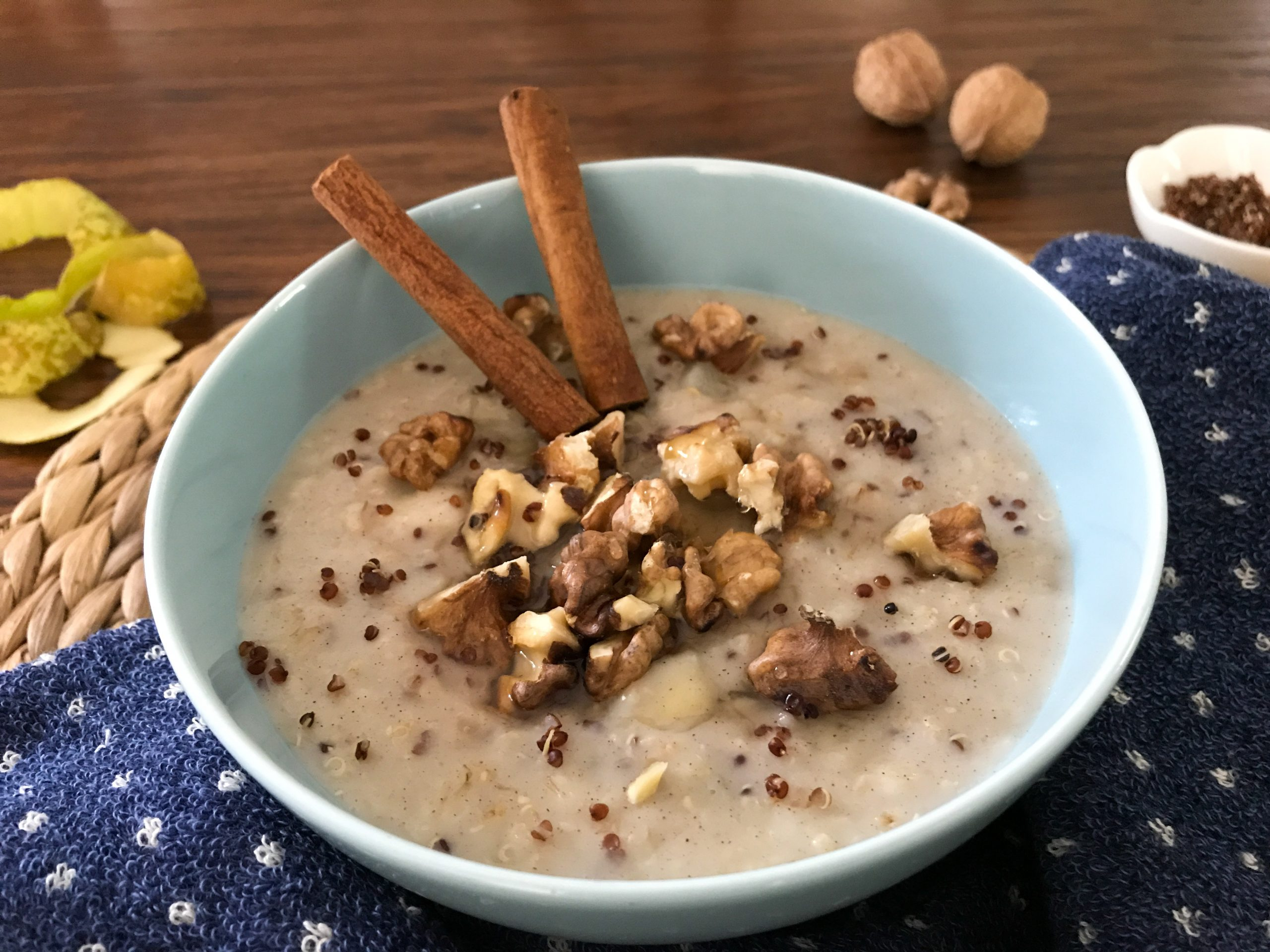 Quinoa Pear Walnut Oatmeal Recipe