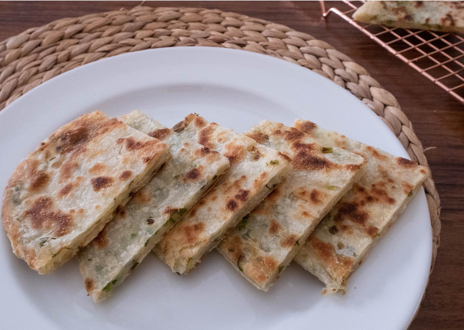 酥脆燙麵蔥油餅做法簡單